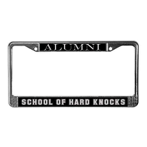 Jesspad School of Hard Knocks License Plate Frame - Chrome License Plate Frame, License Tag Holder,Auto Frame Cover Grill]()