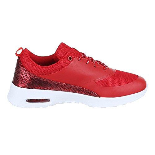 Ital-Design - Zapatillas de Material Sintético para mujer Rojo - rojo