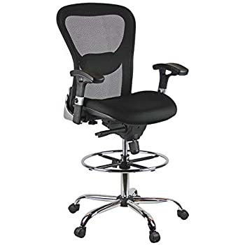 Amazon Com Harwick Deluxe Mesh Drafting Chair Office