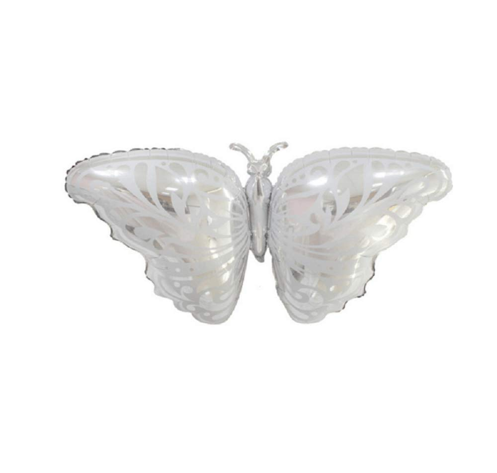 6pcs Butterfly Foil Balloon Aluminum Foil Mylar Helium Party Balloon for Wedding Birthday Party Decoration Silver