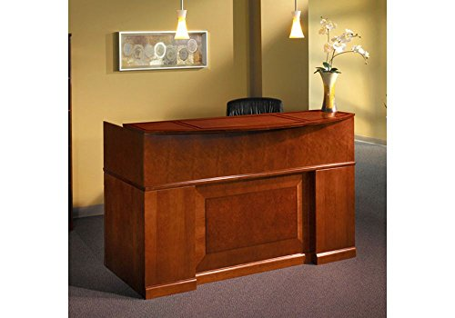Sorrento Reception Desk Bourbon Cherry Finish Dimensions: 72''W x 39''D x 45''H Weight: 481 lbs. by Mayline