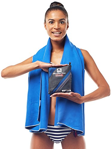 Microfiber Travel Towel – Compact Quick-Drying Lightweight for Sports, Gym, Yoga, Camping, Beach, Swimming