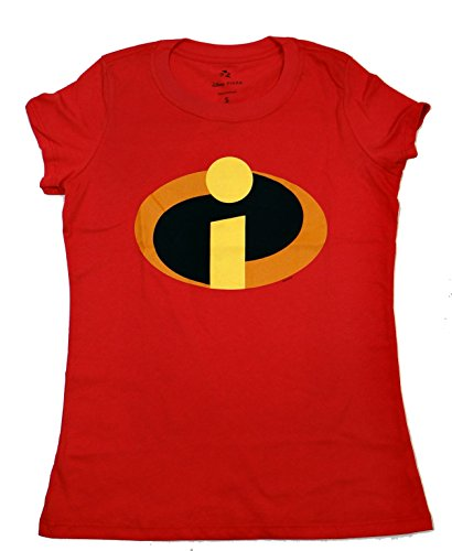 Disney Incredibles Logo Juniors T-shirt (Extra Large, Red) (The Incredibles Woman)
