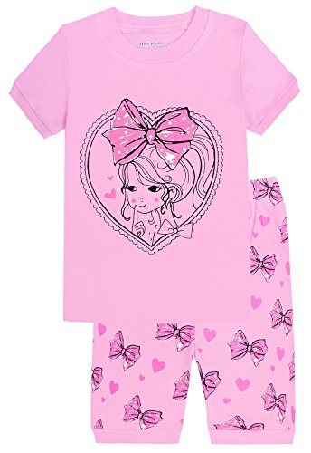 Girls Pyjama Set - MMII Baby Girls Shorts Set Pajamas 100% Cotton Child Clothes T Shirt Pants Infant Kid Toddler 18-24 Months
