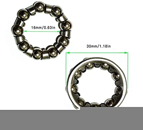 TLBBJ Bicycle hub 1pc 25mm Bicycle Rear Hub Bead Color : 1pc 20mm 30mm Bottom Bracket Bead strong and sturdy 20mm Front Hub Bead 40mm Bicycle Headset Bearing Steel Ball