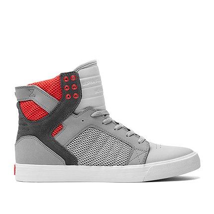 Supra Hombre SKYTOP zapatillas altas (Lt Grey/Dk Grey/Red/Wht)