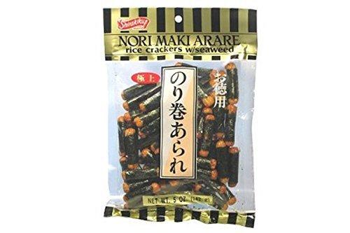 (Nori Maki Arare (Rice Crackers with Seaweed) - 5oz (Pack of 3) by Shirakiku)