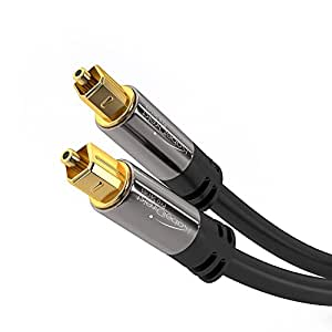KabelDirekt Optical Digital Audio Cable (10 Feet) Home Theater Fiber Optic Toslink Male to Male Gold Plated Optical Cables Best For Playstation & Xbox - PRO Series