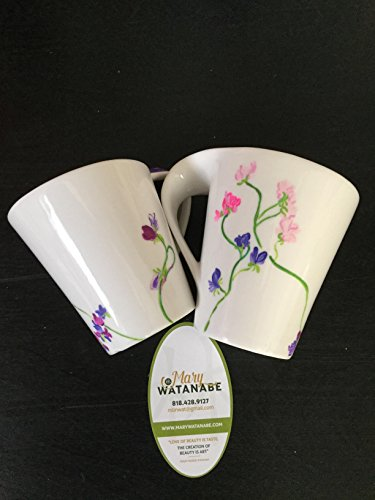 - Sweet Peas Flowers--Hand Painted Coffee Mug--Unique Gift for Mother's Day/Grandmother/Graduation/Birthday/Best Friend/Host/Hostess/Shower