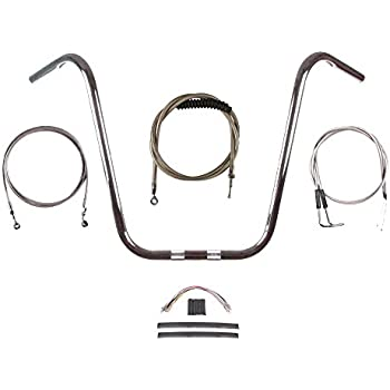 """non-ABS Sportsters w// 16/"""" Tall Apehangers Extended Black Control Cable Kit"""