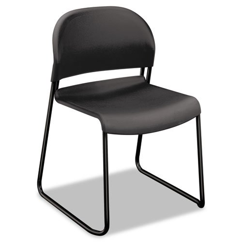 HON 403112T Gueststacker Chair, Charcoal with Black Finish Legs, 4 per Carton