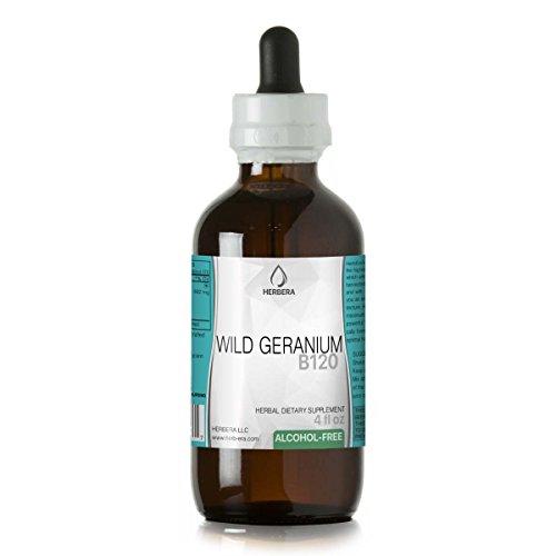 (Wild Geranium B120 Alcohol-Free Herbal Extract Tincture, Wild Geranium (Geranium maculatum, Cranesbill) Dried Root (4 fl)
