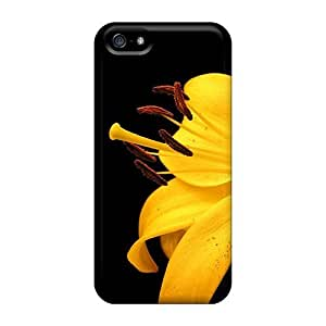 New Diy Design Yellow Lily Flower For Iphone 5/5S Phone Case Cover Comfortable For Lovers And Friends For Christmas Gifts