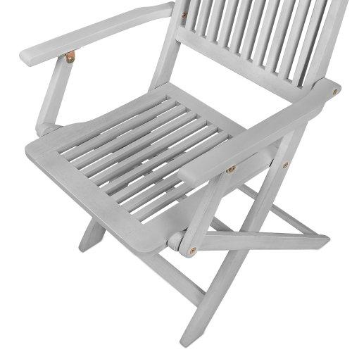 Ensemble table et chaises salon de jardin Sydney Bois dur Acacia ...