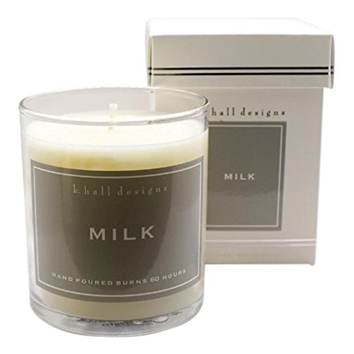 K Hall Designs 60-Hour Vegetable Wax Candle Pack of 4 - Milk