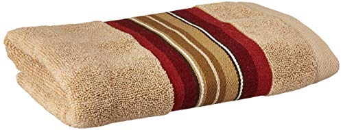 - SKL Home by Saturday Knight Ltd. Madison Stripe Red Hand Towel, Tan