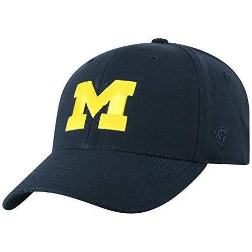 Top of the World Michigan Wolverines Men's Memory Fit Hat Icon, Navy, One Fit
