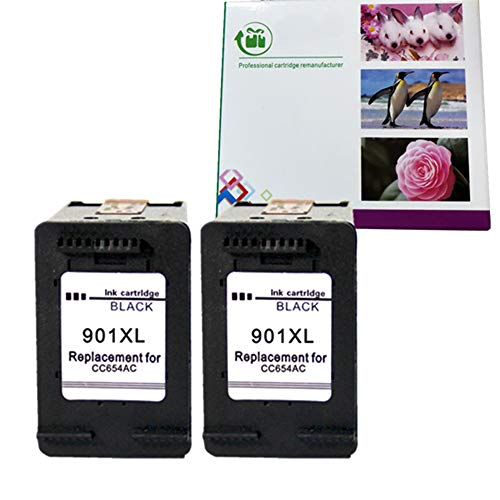Ewigkeit Remanufactured Ink Cartridge for HP 901XL Black High Yield Compatible with HP Officejet Printer G510a G510g G510n J4500 J4524 J4540 J4550 J4580 J4624 J4640 J4660 J4680 J4680c - Support Pack Officejet
