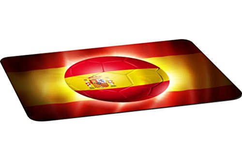Rikki Knight Brazil World Cup 2014 Spain Team Football Soccer Flag Large Non-Slip Fabric Top Table Place Mats with Rubber Backing (One place mat) by Rikki Knight