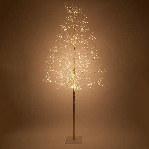 Amazon.com: Fairy Light Tree Indoor-Outdoor Decor Lighted Tree with Fairy Lights, Globe Light Tree, Light Ball Tree with Globe Lights (7 Ft, Gold Fairy Light Tree, Warm White Lights): Home & Kitchen