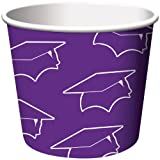 Creative Converting 6 Count Graduation Treat Cups, Purple