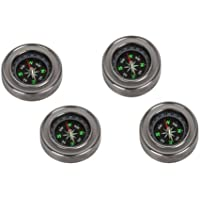 GOLD LEAF Divine Miracles Stainless Steel Directional Magnetic Compass for Feng Shui/Travel (Black) Set of 4 pcs