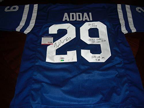 Joseph Addai Nfl Jersey - Joseph Addai Signed Jersey - sbchamps full Stats - PSA/DNA Certified - Autographed NFL Jerseys