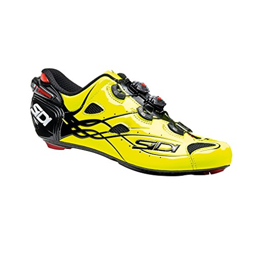 Sidi Shot Cycling Shoe - Mens GLOWYELLOW/Black Size 43
