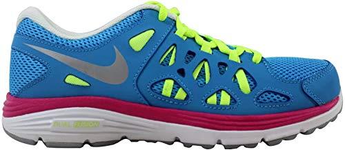 Nike Grade-School Dual Fusion Run 2 Vivid Blue/Metallic Silver-Volt 599793-401 Shoe 5.5Y M US Youth