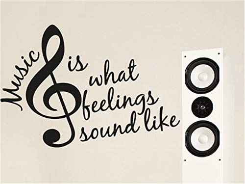 Ysname Vinyl Removable Wall Stickers Mural Decal Art Family Decals Music is What Roud Like for Music Room Living Room ()