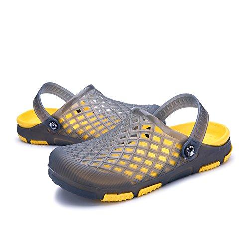 Capo Mostra Mens Casual Sandali Da Giardino Scarpe Da Spiaggia Punta Fine Estate Estate Pantofole Grigio