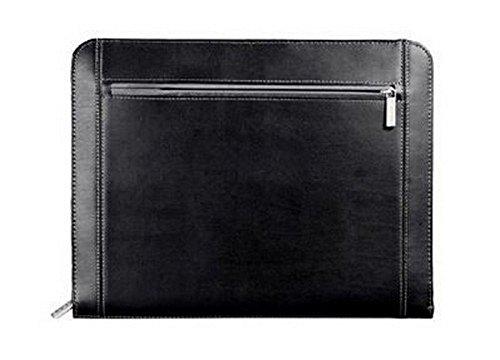 Metropolitan Zippered Organizer Premier Leather Padfolio Portfolio Notepad, Writing Pad, Black by Metropolitan