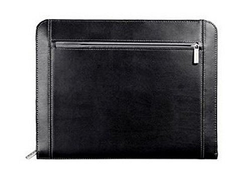 Metropolitan Zippered Organizer Premier Leather Padfolio Portfolio Notepad, Writing Pad, ()
