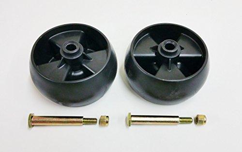 Mtd Deck Wheel (Set of 2, Deck Wheels Replace 734-04155, Bolt Replaces 938-3056 Plus Locknuts. MTD, Cub Cadet, Troy Bilt, White)