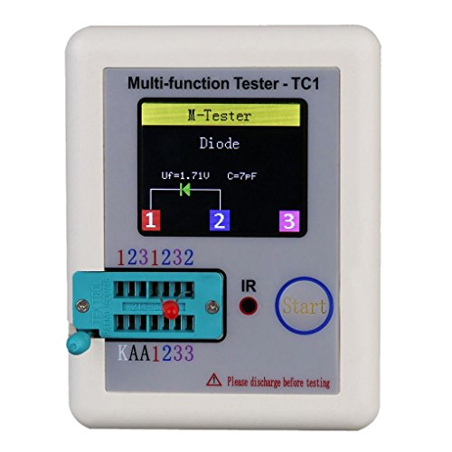 You May TFT Transistor Tester Capacitance Meter LCR ESR NPN PNP Capacitor Checker Detector USB Charging LCR-TC1