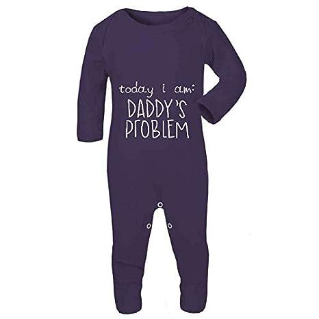 Hoy Me Daddy del problema Cute Funny Cheeky declaración bebé ...