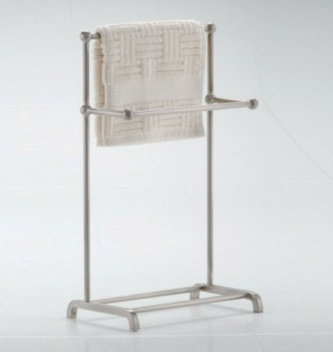 - Taymor Satin Nickel Two Tier Fingertip Towel Valet