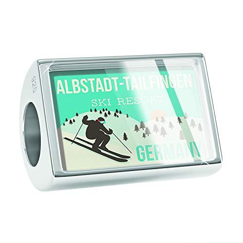 NEONBLOND Charm Albstadt-Tailfingen Ski Resort - Germany Ski Resort 925 Sterling Silver Bead