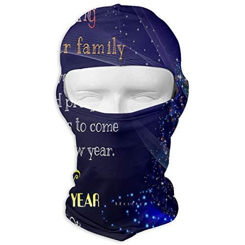 Balaclava Starlight Tree 2019 Happy New Year Full Face Masks UV Protection Ski Cap Womens Headcover for ()