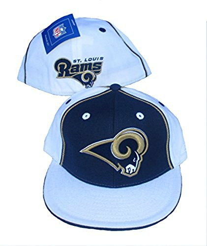 St. Louis Rams Fitted Size 7 7/8 Hat Cap - Navy Blue & White by Genuine Merchandise