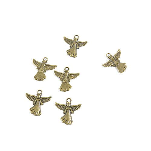 Price per 20 Pieces Jewelry Making Supply Charms Findings Filigrees T5MK4H Angel Wings Antique Bronze Findings Beading Craft Supplies Bulk Lots