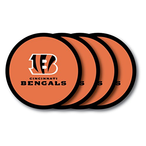 - NFL Cincinnati Bengals Vinyl Coaster Set (Pack of 4)