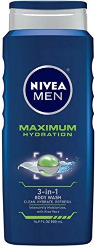 Price comparison product image Nivea 3n1 Bdy Wsh Hydra M Size 16.9z Nivea Men'S Maximum Hydration 3n1 Body Wash 16.9z