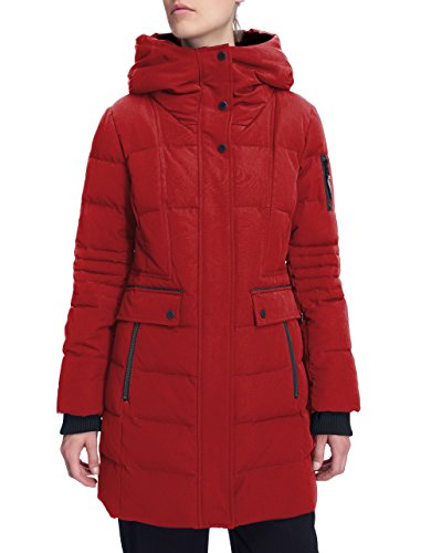 Alpine North Women's Winter Fur Down Parka Jacket Hooded Mid-Length Coat - Alpine Fleece Jacket
