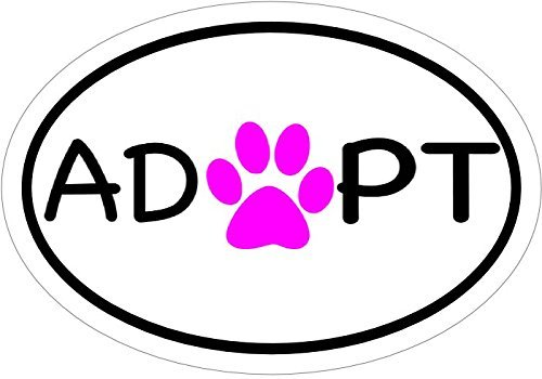 Pet Adoption Rescue - ION Graphics Magnet Shelter Rescue - Oval Pink Paw Pet Adoption Vinyl Magnet - Rescue Vinyl Magnet - Shelter - Perfect Pet Adoption Gift - Made in The USA Size: 4.7 x 3.3 inch