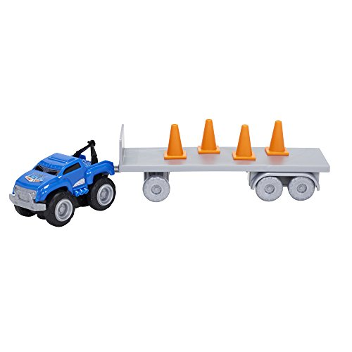 Max Tow Truck Mini Haulers Tow and Go Packs Blue Tow Truck with Tire Accessories