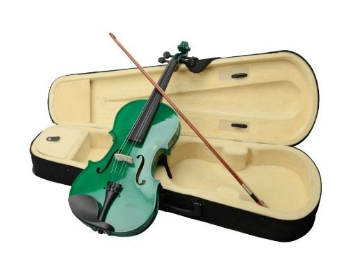 K&A Company Viola Acoustic Case Bow Rosin New Student Free Sets Strings Bridges Mute 16 Inch - Mute Viola 16