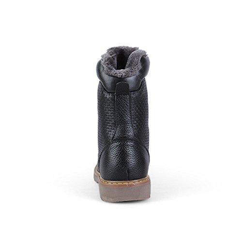 Inverno Scarpe Per E Aiutare Inghilterra Utensili Stivali Cuoio Vintage Di Black Stivali Le Martin Alti Uomini Per Autunno R5cz41Fz