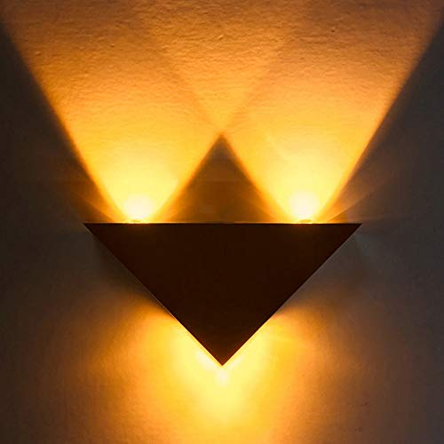 Amazon.com: LXTX Triangular Aluminio Lámpara de Pared LED ...