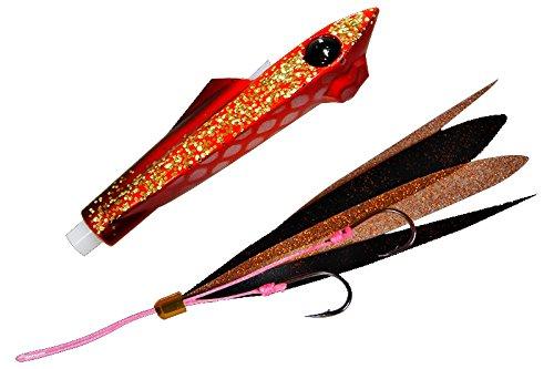 JACKALL(ジャッカル) タイラバ ビンビンロケット Wアピール 45g ファイヤーレッド/イワシボール メタルジグ ルアーの商品画像